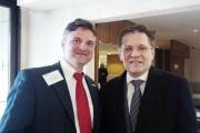 Фолькер Зайтц (директор по развитию бизнеса и маркетинга / коммуникации в Kögel) и Алексей Лихачев (Первый заместитель министра экономического развития Российской Федерации)